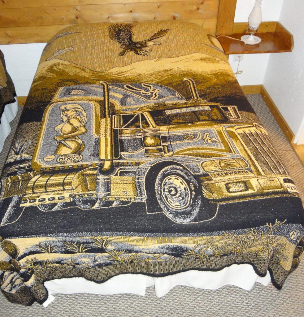 Bedspread, dude